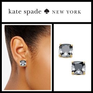 Kate Spade Black Crystal Stud Earrings NWT